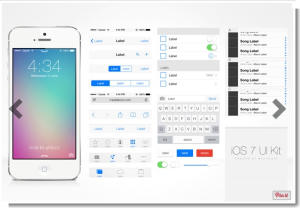 Free iOS 7 UI Kit MediaLoot